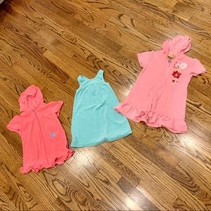 Lot 3 Girls Swim Cover Ups Old Navy Wippette 4T